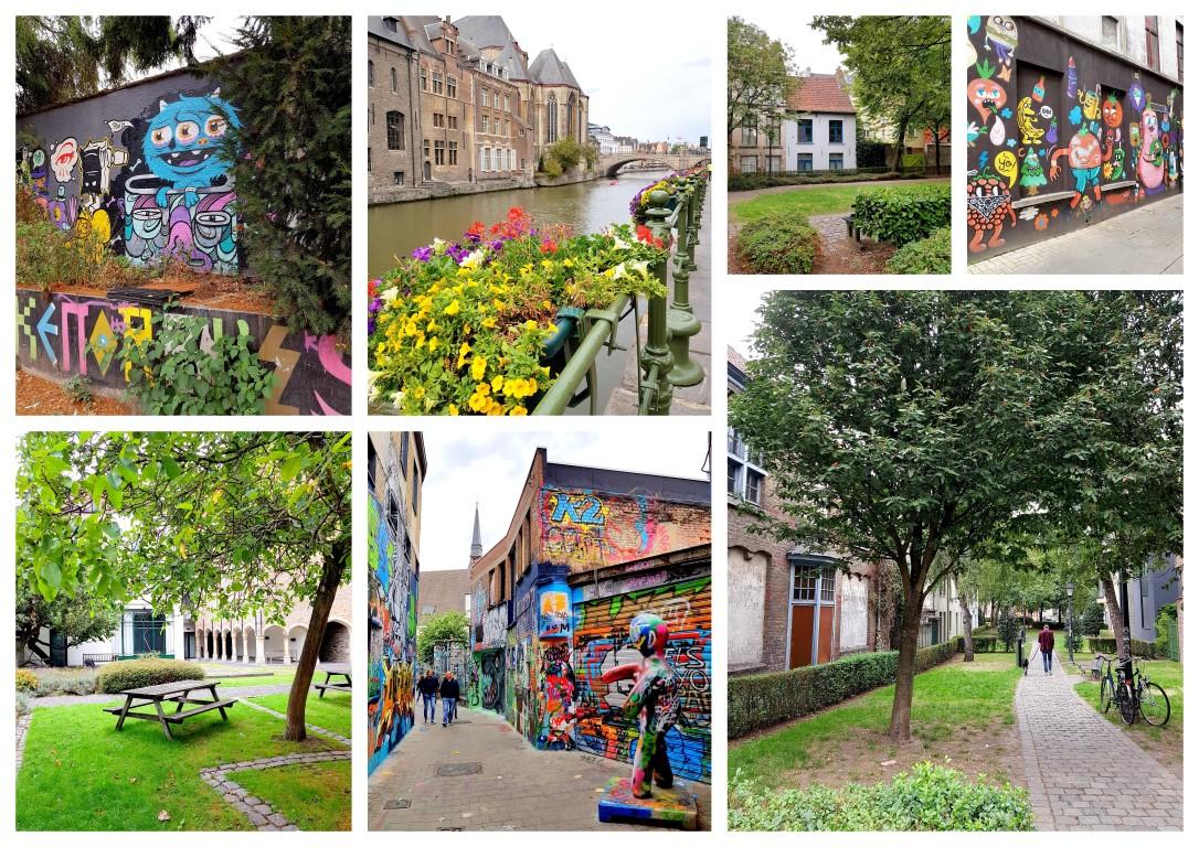 Gent wandeling graffiti