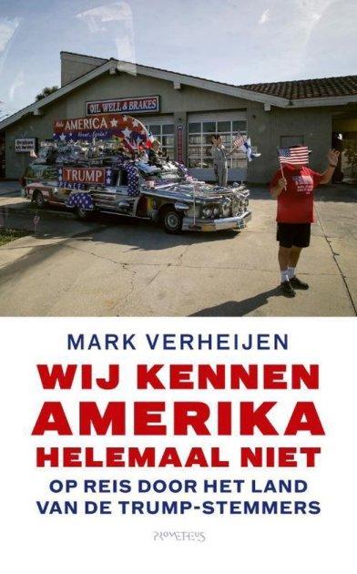 Wij kennen Amerika helemaal niet. Omslag boek Mark Verheijen