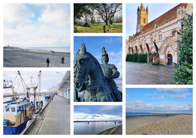Collage wandeling Nieuwpoort