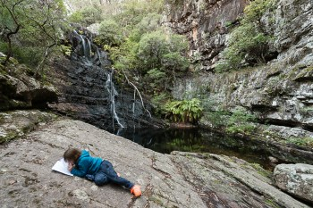 Doing My Maths Homework In Front of a Waterfall