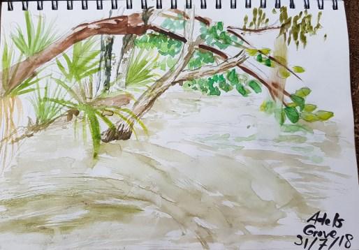 Adels Grove Pontoon watercolours