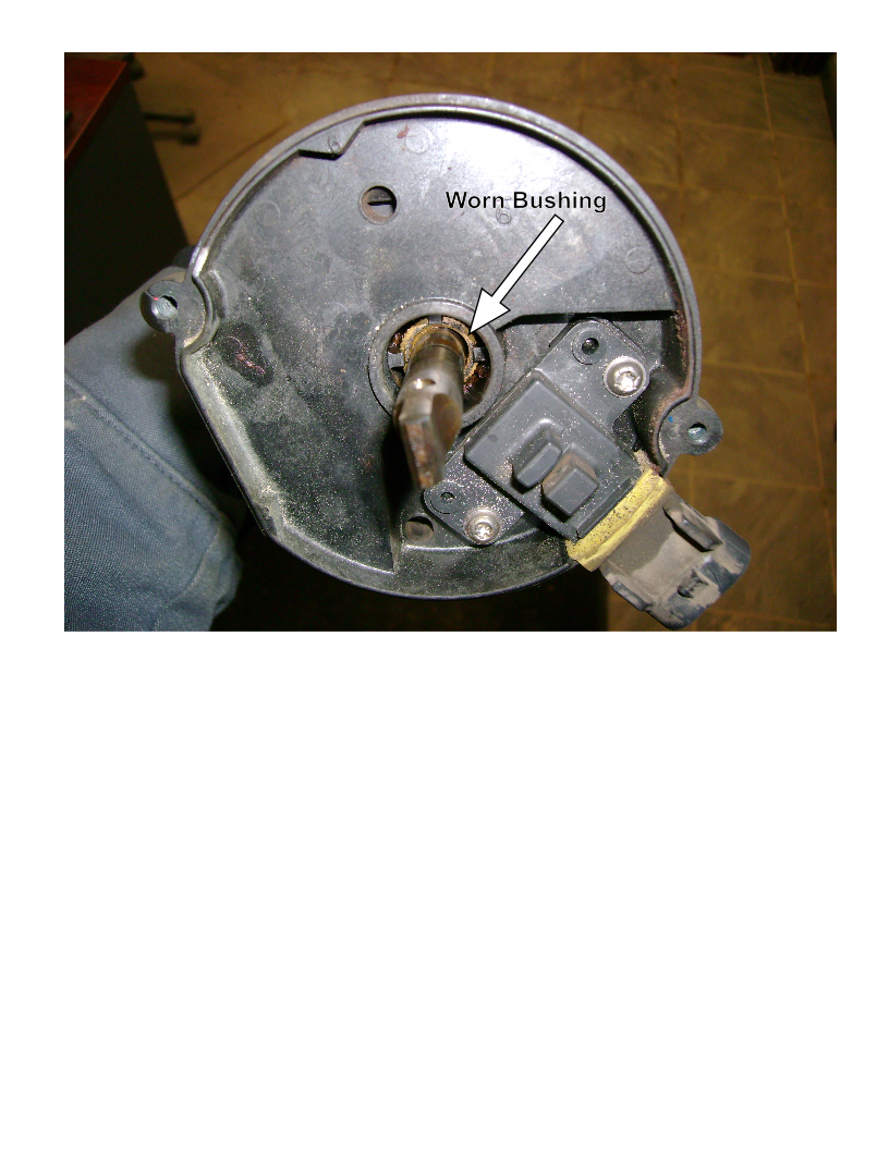 medium resolution of 1996 4 3 worn distributor bushing
