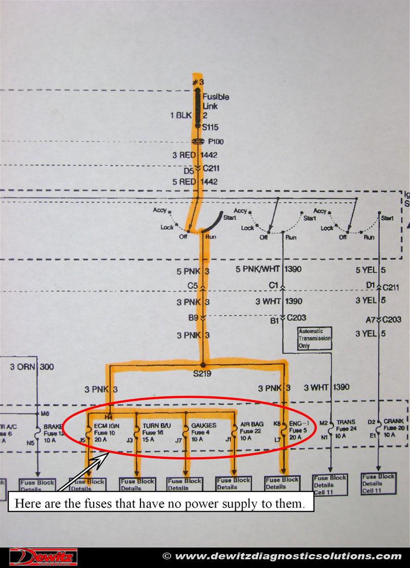 ford fuel pump relay wiring diagram motion detector no start 1997 oldmobile bravada 4 3 dewitz