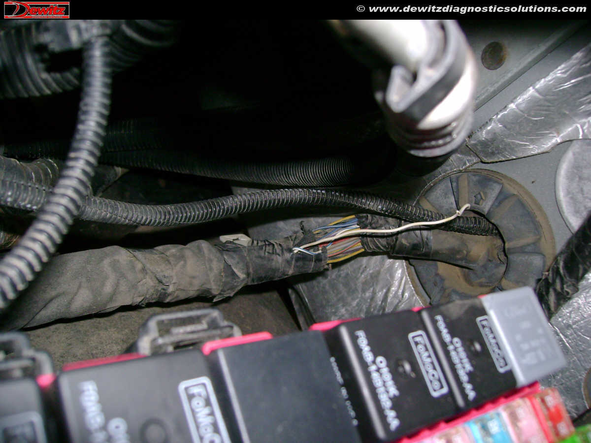 hight resolution of 2010 ford f250 can network broken wire at firewall engine compartment