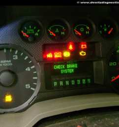 2010 ford f250 instrument cluster warning lights check brake system no start and theft light [ 1200 x 900 Pixel ]