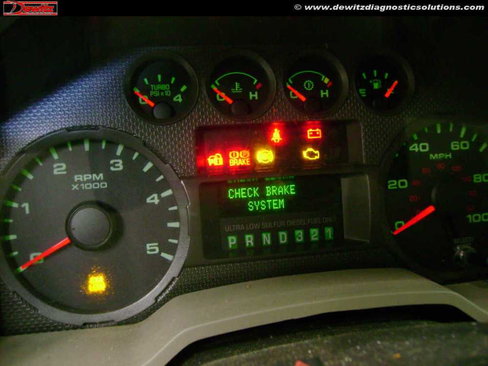 medium resolution of 2010 ford f250 instrument cluster warning lights check brake system no start and theft light