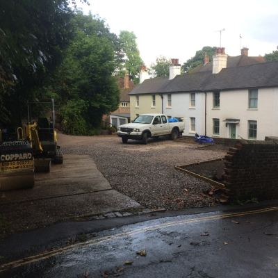 Remodelling of new driveway and garaging area, Lynton, East Grinstead