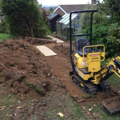 Excavation of path, Littlewood, Sussex