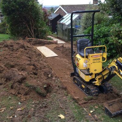 Excavation of path, Littlewood, Sussex