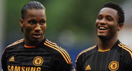 Mikel and Drogba