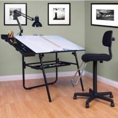 Drafting Table Chairs Bertolini Church Studio Designs 4 Piece 30 X 42 Ultima Set Base In Black