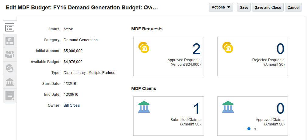 mdf budgets