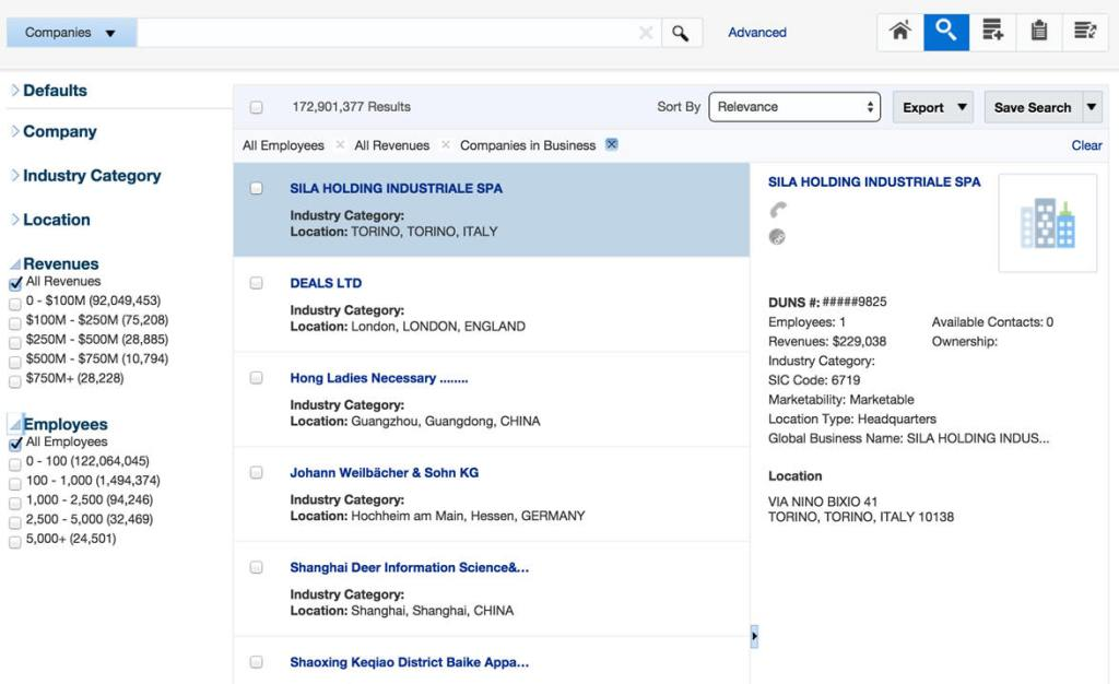Oracle Data Cloud for Sales portal for data stewards