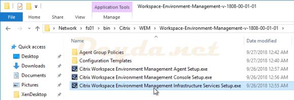 Citrix Workspace Environment Management Infrastructure Services