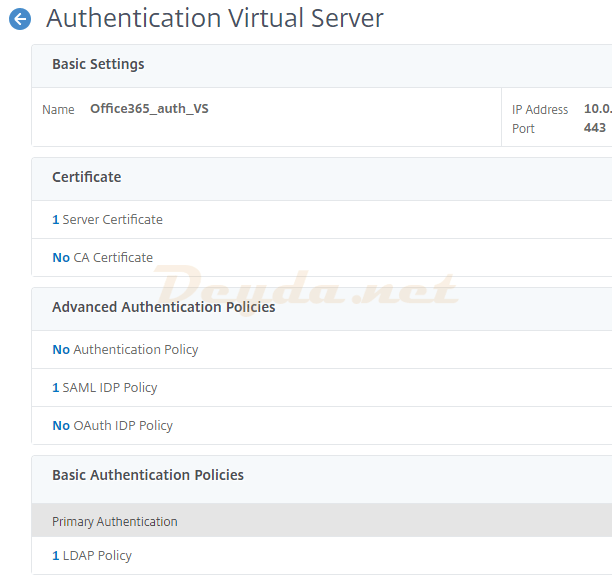 Authentication Virtual Server