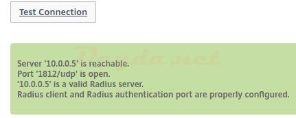 Test RADIUS Connection