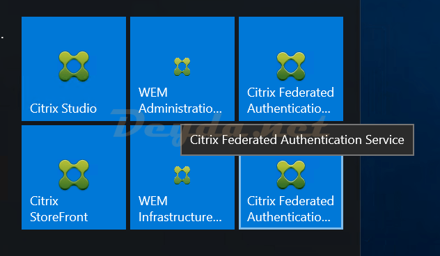 Citrix Federated Authentication Service Tool