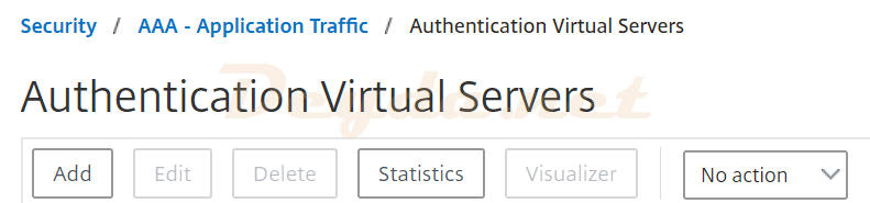 Authentication Virtual Servers AAA - Application Traffic FAS SAML