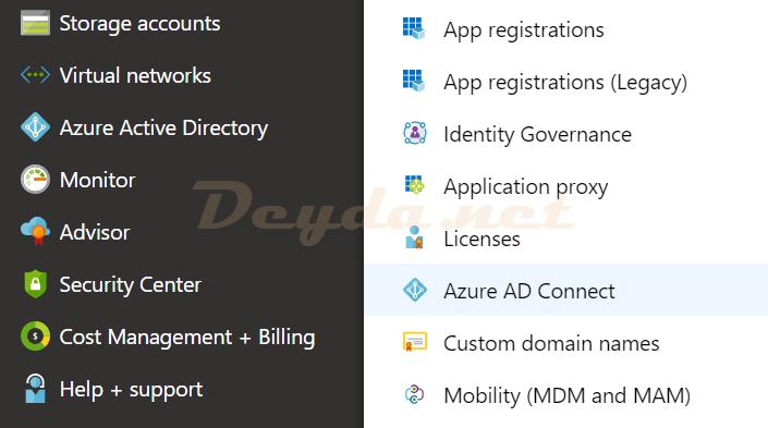 Azure Portal Azure Active Directory Azure AD Connect