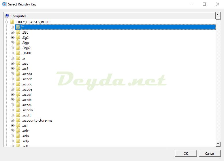 Hiding Rule Select Registry Key