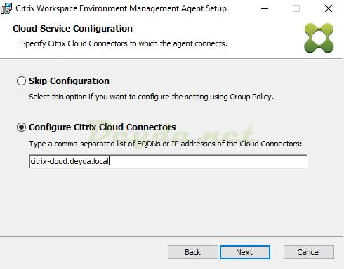 Citrix Workspace Environment Management Agent Configure Citrix Cloud Connectors