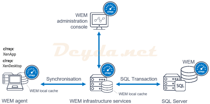 WEM administration console SQL Transaction