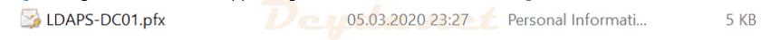 Export File pfx