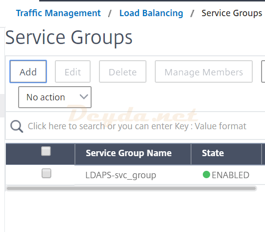 Service Groups LDAPS
