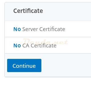 Certificate No Server Certificate
