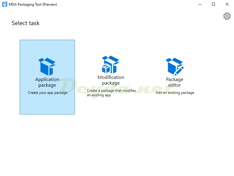 MSIX Packaging Tool Application package