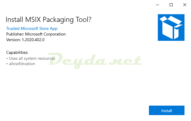Install MSIX Packaging Tool