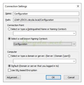 Configuration LDAP://DC.domain.local/configuration