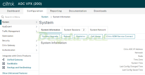 Citrix ADC System Upgrade