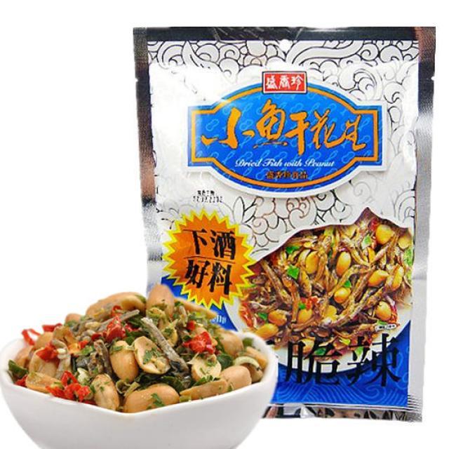 盛香珍小魚干花生 80g_瓜子/豆類/ 堅果_休閑零食_諾丁漢得意行中國超市