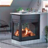 BCDV403-1N - Continental Direct Vent Gas Peninsula Fireplace