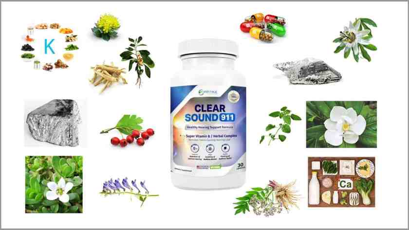 Clear Sound 911 review-ingredients