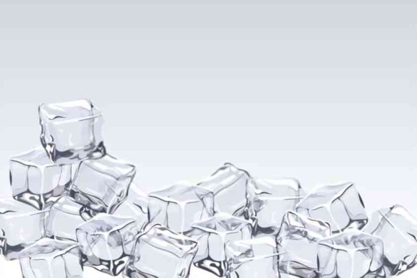 Ice cubes to remove gum out of hair
