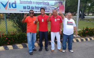 Assis, Deyvid, Neri e Dórea (Diretores do Sindipetro Bahia).