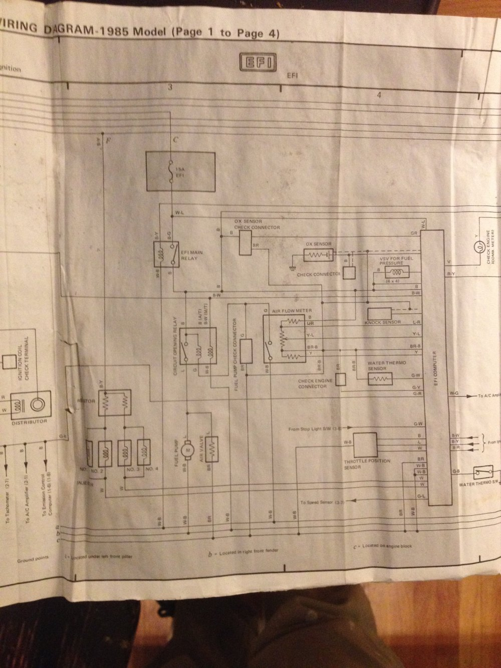medium resolution of below is a photo of the efi circuit from a 1985 factory service manual hope this helps