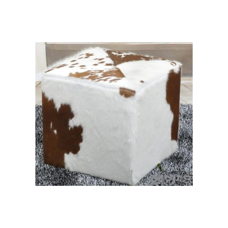 Tabouret Cube Ottomane Peau De Vache Par Design Par