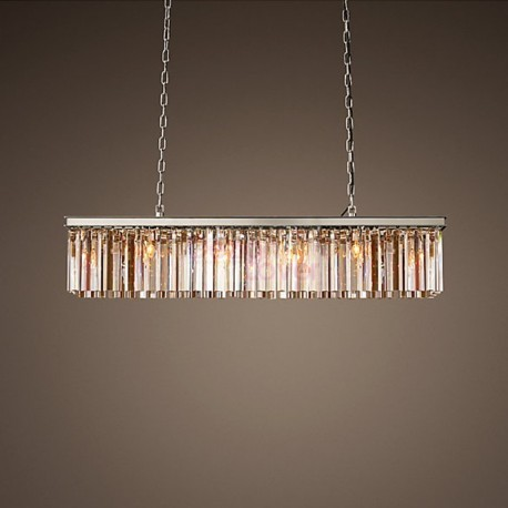 RH RHYS Prism Rectangular Crystal Chandelier design by