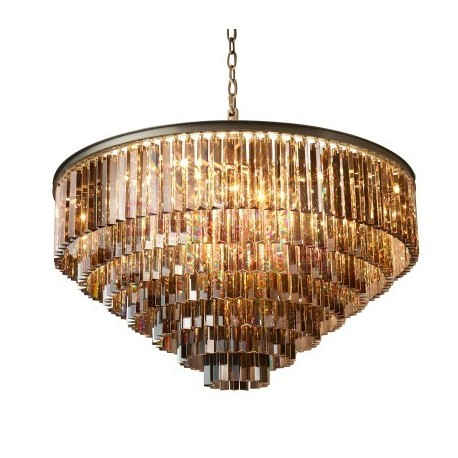 Rh 1920s Odeon Clear Glass Fringe Round 7 Tier Chandelier Design By Restoration Hardware A Modern Lamp On Dezignlover