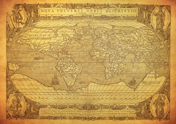 Ancient Globe World Map wall canvas Dezign With a Z