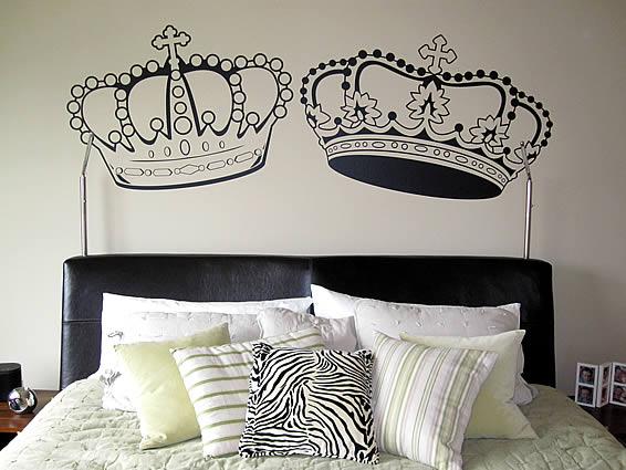 A crown affair wall decals, decor by juliana