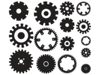 Mechanical Gears wall decal | Dezign With a Z