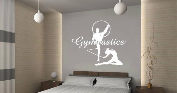 gymnastics wall decals dezign with a z