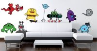Monsters Parade wall decals by Charuca   Dezign With a Z