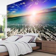 Heavenly Horizon vinyl wall mural | Dezign With a Z