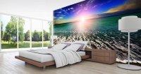 Ocean Seashore Sunset wall murals | Dezign With a Z
