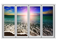 Ocean Seashore Faux Window Murals | Dezign With a Z